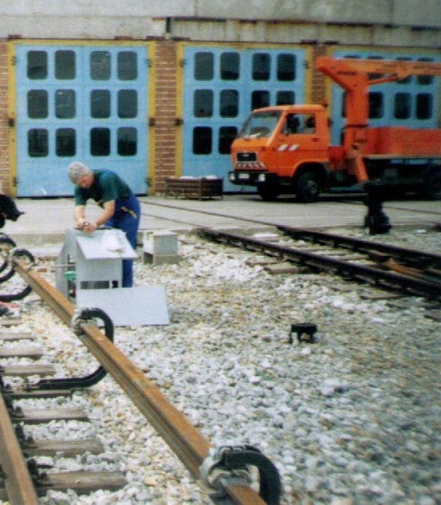"""""""Iron road and contact rail with electrical supply for lines from № 18 to №26 in depot """"Obelia"""""""